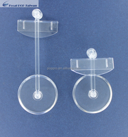 POP display clear clip table stand or clear plastic display stand or Poly carbonate clear clip with stand