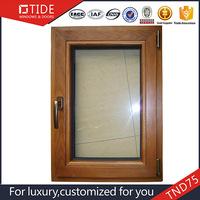 Teak wood aluminum swing windows
