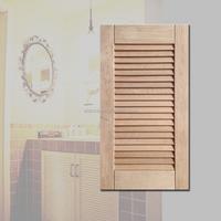 elegant solid wood shutter cabinet door for kitchen cabinet, shoe cabinet