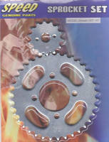 front and rear sprocket set for smash in blister card package