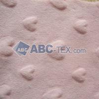 Minky Heart Fabric/Professional in Minky fabrics Export to USA, AU, EUROPE, Malaysia