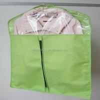 brown polyester suit bag, china foldable garment bag, 100gsm non woven garment bag