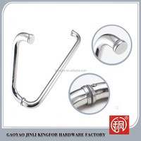 China supplier stainless steel glass door shower handle