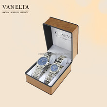 Custom Gift Set Branded Quartz Couple Watches from China