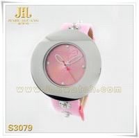 Creative Pen Arrows Bright PU Leather Strap Ladies Watch Stock Wholesale japan movt ladies watch