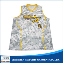 Dry-fit material custom basketball warm up jerseys