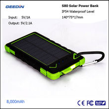 portable solar power pack universal external battery solar mobile phone charger by geedin S80