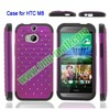 High Quality 2-in-1 Silicon and PC Protective Hard Bling Phone Case for HTC One 2 M8