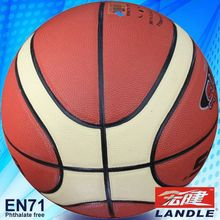 High quality 12 panels leather basketball 8 inches laminated basketball