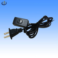 UL certified American 2 pin nema 1-15P polarized power cord with 303 on line switch