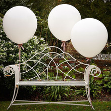 Round Shape Huge White Color Balloons PPD001