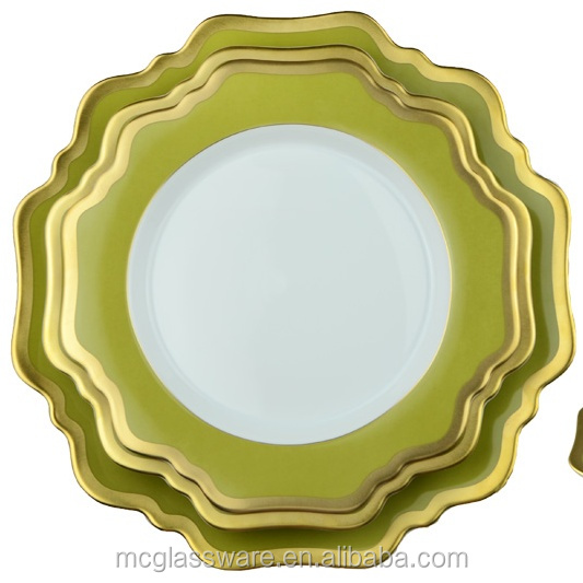 Натуральный зеленый луг Corelle фарфор Турецкая оптом ужин комплекты для свадьбы