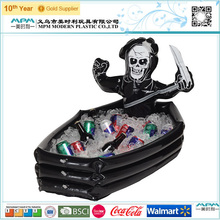 OEM inflatable beer can cooler with skull design