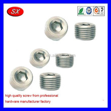 customized stainless steel threaded plug,brass plug