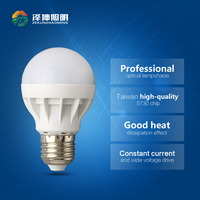 zhongshan led lighting LED plastic bulb screw type cheap led light bulb