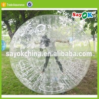 inflatable giant water plastic human hamster ball in pool