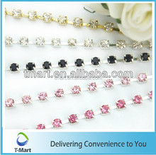 variety colors wholesale rhinestone cup chain for decorative
