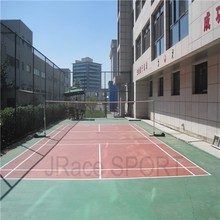Si PU badminton sports flooring suitable for indoor and outdoor