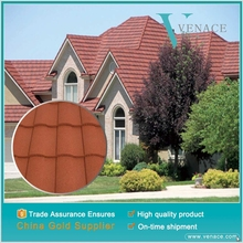 Building material stone coated steel roofing tile