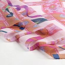lady digital print custom design silk scarf necklace scarf