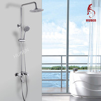 Polished Single Hadle Surface Mounted Rain faucet shower