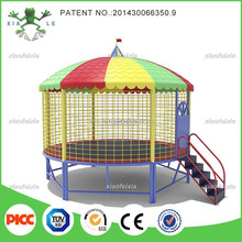 14 FEET Round Trampoline With Roof And Stair