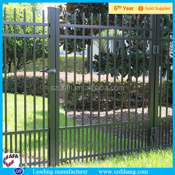 Gates and steel fence design galvanized steel fence for Anti phosphate piscine