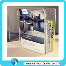 destop crystal clear acrylic countertop book rack