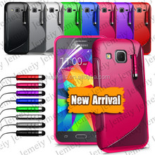 S-line Wave Soft TPU Durable Case For Samsung Galaxy Core Prime G360 Flexible Gel Rubber Cover