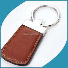 Genuine custom leather Keychain with big carabiner