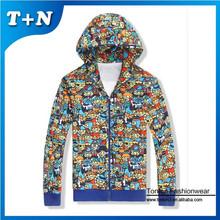 slim fit fabric printed dye sublimation sweatshirt hoodies with hood
