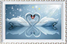 Popular loving heart swan diy crystal 5d diamond painting for wall decoration