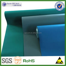 [factory]Rubber Material Green/Blue/Gray 2 Layers Glossy or Dull Anti Static Mat