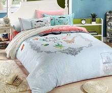 light blue fashion bedding for bedroom