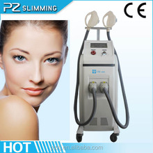 2014 New technology IPL SHR system with good price with two treatment heads for skin rejuvenation and hair removal