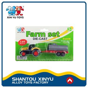 1: 64 diecast modelos de carros de brinquedo caminhão trator agricultor logotipo personalizado com baixo moq
