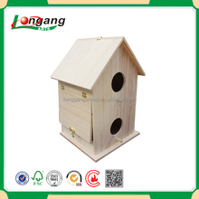 no printing bird cage two floors wooden bird house