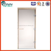Sauna accessories for sauna room use 1860*760/670m with aluminium and tempered colourless and dark brown steam sauna glass doors