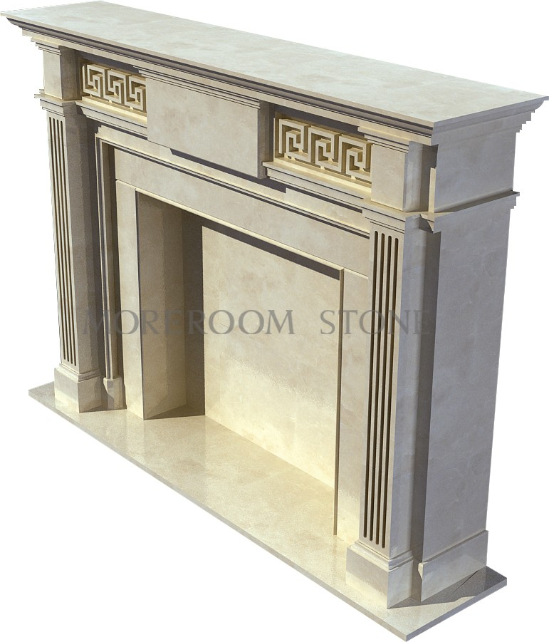 WL-BL003 Moreroom Stone Natural Marble Finished Marble Product Natural Stone Marble Fireplace.jpg
