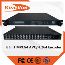 8 in 1 full HD mpeg4 h.264 encoder for dvb-t/dvb-c standard