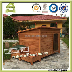 SDD0603 Extra Large Pet Dog Timber House Wooden Kennel Wood Cabin Log Storage Box Bowls