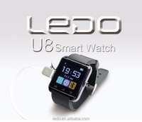 LEDO wifi smart watch U8 for android phones promotional gift watch up to 30% discont