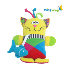 wholesale funny plush baby toy with animal design