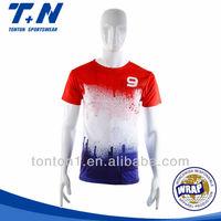 Wholesale custom usa striped big size sublimation soccer jersey