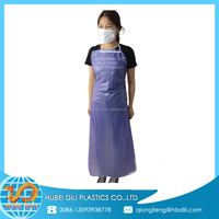 disposable plastic bibs aprons/disposable plastic aprons pink/thick plastic disposable aprons