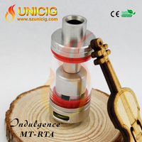 New release Unicig Indulgence MT-RTA pyrex glass tube pipes rta atty atomizer