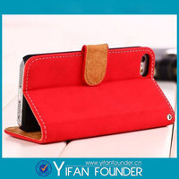 Brandnew Stand Leather Cover For IPhone5c Back Case With Card Slot