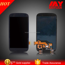 Original mobile phone accessories in China for samsung S3 i9300 lcd screen assembly and with frame