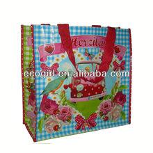recycled reusable offset printing pp woven bag and reusable bag