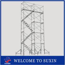Construction frame scaffolding for building and maintenance platform